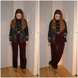 Mucha Lucha - H&M Denim Jacket, Second Hand Roll Neck Jumper, H&M Trousers, New Look Boots - Stay warm