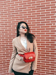 Joyce Wang - Zara Belt Bag, Bershka Beige Blazer, Asos Cat Eyed - Happy Chinese New Year!