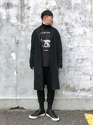 ★masaki★ - Neuw Denim Coat, Joy Division Closer, Ch. Cropped Trousers, Converse Prime - CLOSER