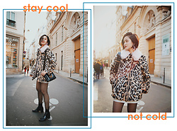 Miu PHAM - Topshop Leopard Coat, Marc Jacobs Black Leather Bag, Topshop Black Patent Leather Boots - Stay Cool not Cold
