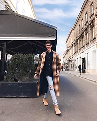 Luka Lajic - Zara Coat, Zara Shoes - Earthy