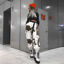 Krist Elle - Zaful White Camo Pants - How to wear camo pants / Krist Elle