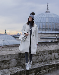Viktoriya Sener - Shein Coat, Shein Dress - Grey