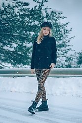 Annie O.Meow - Dr. Martens Booots, Zara Animal Print Pants, Mango Black, Asos Biker Boy - Listen what I say oh