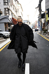 INWON LEE - Byther Coat, Gucci Sunglasses - In the street