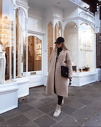 Aneta Kramarska - Mango Bag, Bershka Shoes, Zara Coat - Neutrals