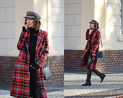 Daisyline . - Michael Kors Bag, Bershka Coat, Pull & Bear Hat - Red coat / www.daisyline.pl