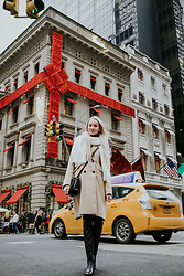 Aleksandra D - Monnari Bag, Reserved Coat, Kurt Geiger Shoes - Cartier NYC