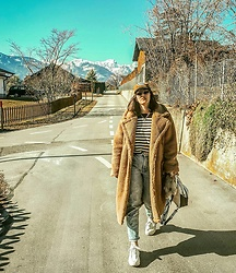 Doina M. - Gina Tricot Teddy Coat, Jeffrey Campbell Sneakers - Too much into teddys..