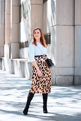 Juls Theulifestyle - Metisu Print Skirt, Mango Bag - Animal print skirt