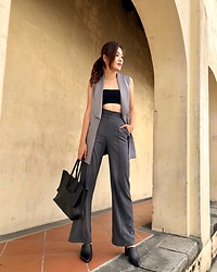 Amanda Olivia L. - Love Bonito Pants - Grey