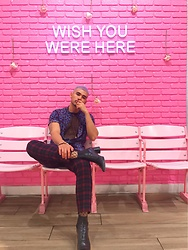 Ken Navarro - Nordstrom Neo Animal Shirt, Topman Tartan, Riley Rose Wall - Wish you were here