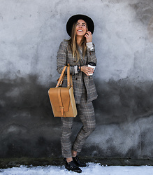Eliska H. - Reserved Checkered Suit - Another Day, Another Suit