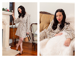 Lisa Valerie Morgan - Storets Dress - Winter Floral Dress + Creed Floralie
