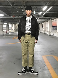 ★masaki★ - Dickies Jacket, Dickies 874, Blackflag Tee, Vans Oldskool - OLD SCHOOL
