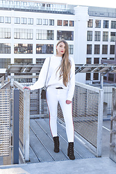 Paulina Kędzierska - Zara White Jeans, Pinko Bag - Everyday stylization