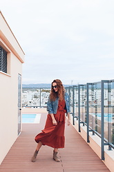 Lina . - Shein Dress - TERRACOTTA DRESS