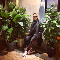 Mannix Lo - Monki Checked Long Coat, Jil Sander Knitwear, Zara Side Line Pants, Nike Air Max 270 Sneakers - If you get tired, learn to REST, not to QUIT