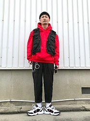 ★masaki★ - Rothco Tactical Vest, Camber Hoodie, Ch. Trousers, Nike Air Monarch - Tactical Vest