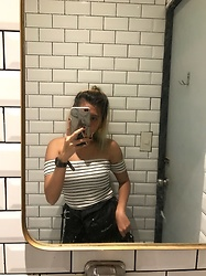 Nicole Saludar - Forever 21 Off Shoulder, Bershka Cargo Pants, Montbell Beltbag - Dirty mirror