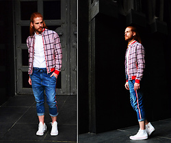 Maik - Karl Mommoo Jacket, Dolce & Gabbana Shirt, Alessandro Di Lange Jeans, Converse Sneaker - Spring in Italy