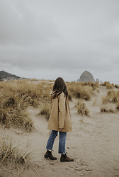 Tonya S. - Stutterheim Coat, 501 Levis, Blundstone Heeled Boots - By the Sea