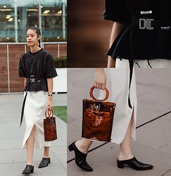 Carmen Grace - Wego Japan Bag, Bagjack Japan Belt, Japan Mandarin Earrings, Tony Bianco Mules - Japaccessoreaze