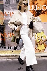 Anna Borisovna - H&M Jacket, Zara Pants, Onygo Shoes, Zara Bag, H&M Sunglasses - The Linen Jacket