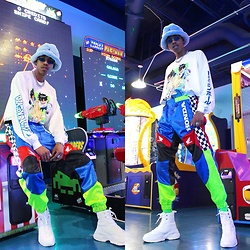 Dominic Grizzelle - Forever 21 Dragon Ball Z Long Sleeve, Forever 21 Honda Moto Pants, Asos Sneaker Boots - SPACE INVADER