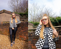 Emma Reay - Shein Checkered Jacket, Aphrodite Layered Necklace - Checked