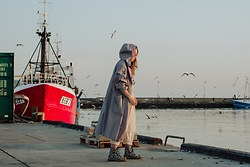 Iwona - Vintage Maxi Coat - SEA