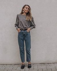Vevas - Pull & Bear Trousers, Pull & Bear Earrings, Boohoo Shoes - Spring elegance