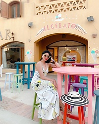 Cassey Cakes - Mango Dress, Zara Hat, Mango Bangles - El Gouna, Red Sea