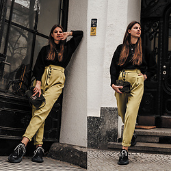 Jacky - Loavies Pullover, Asos Pants, Balenciaga Sneakers, Fendi Bag - Spring Outfit with Trend Colour Green