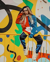 Milex X - Giant Vintage Sunglasses, Hero Sweatshirt, Sauced Style Pants, Buffalo Shoes - COLORFUL SOUL