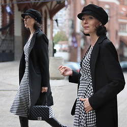 Minimalissmo .. - Swing Dress - Houndstooth dress