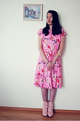 Dina N. - Dresslily Pink Floral Dress, Dresslily Gold Watch - Brighter Days