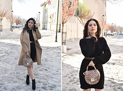 Jelena Dimić - Shein Camel Waterfall Coat, Femmeluxe Sweater Dress, Ebay Statement Earrings, Primark Leopard Print Belt, Cocopat Leopard Handbag, Jeffrey Campbell Shoes Platform Boots - Perfect paradise tearing at the seams