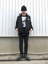 ★masaki★ - Mishka Death In June, Jesse Draxler Art Tee, Insight51 Skinny Jeans, Vans Punk - Blind Shot