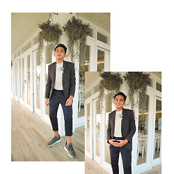 Dwight Navarro - Topman Blazer, Uniqlo Plain Shirt, H&M Crop Pants, Adidas Classic Shoes - The Stage Brother