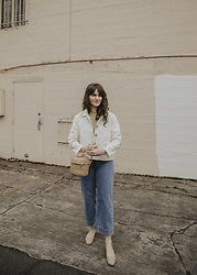 Tonya S. - Everlane Denim Drop Two, Harly Jae White Button Up Jacket - Everlane Denim