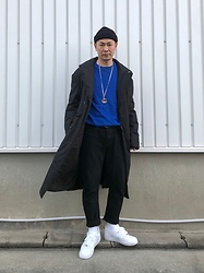 ★masaki★ - Komakino Coat, H&M Knit, Neuw Denim Jeans, Nike Air Force1, Gucci Necklace - Classy street style