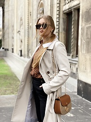Marta Caban - Zerouv Glasses, Orsay Coat - CREAM