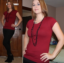 Erin Solberg -  - Casual Friday - Burgundy Tee