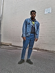 Jason - Dr. Martens Boots, Asos Cropped Denim, Forever 21 Head Bangers Tee, Levi's Denim Jacket - As I Am
