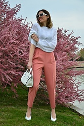 Elisabeth Green - Dokotoo Sweater, Asos Pants - White and Pink