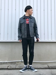★masaki★ - Ch. Leather Jacket, The Rocky Horror Picture Show Movie Tee, Neuw Denim Jeans, Converse Hi - THE ROCKY HORROR PICTURE SHOW