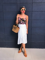 Cassey Cakes - H&M Skirt, Mango Dress, Mango Sandals - Spring Prints