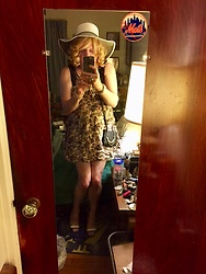 Jennifer S - H&M Dress, Shoedazzle Peep Toe Heels, Express Mini Bag, Express Hat - Brunch Date