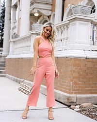 Amber Wilkerson - Jumpsuit, Suede Sandal, Gucci Bag - JUMP INTO A SPRING JUMPSUIT